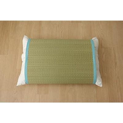 イケヒコ い草 枕パッド かため ブルー 約50×63cm 適応枕サイズ43×63cm #3659839
