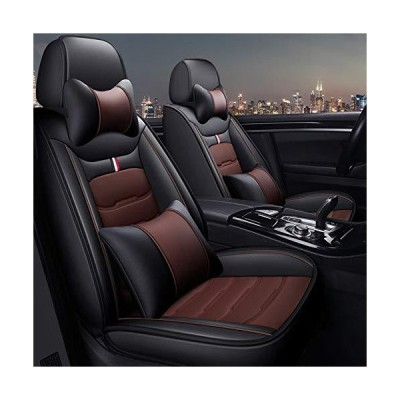Universal Full Set Car Seat Covers, Four Seasons Breathable Waterproof Leather with Cushion for Audi A3 / A4 / A5 / A6 / A8 / Q3 / Q5 / Rs4,