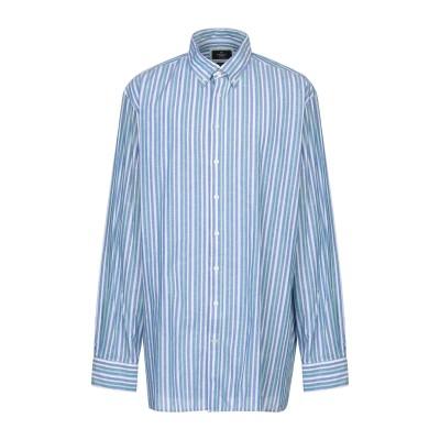 ハケット HACKETT シャツ ブルー XXL コットン 85% / 麻 15% シャツ