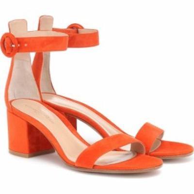 ジャンヴィト ロッシ Gianvito Rossi レディース サンダル・ミュール シューズ・靴 versilia 60 suede sandals Orange