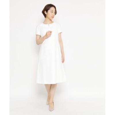 【オーキディア】 ネックデコレーションワンピース レディース ホワイト 42(L) ORCHIDEA