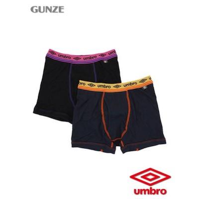 GUNZE グンゼ umbro男児ボクサーブリーフ 前あき  2枚セット 本体綿100% 170cm 年間 UB84852 [170サイズ] 紳士