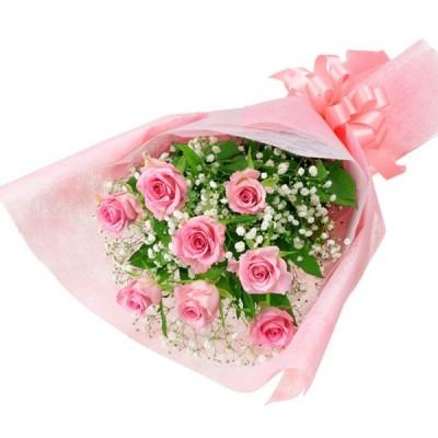 開店祝い・開業祝い 花 ギフト お祝い プレゼント花キューピットのピンクバラの花束