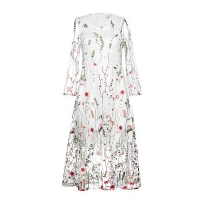 DRY LAKE. 7分丈ワンピース・ドレス ホワイト L ポリエステル 100% 7分丈ワンピース・ドレス