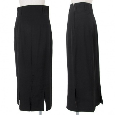 ワイズ Y's 裾カットウールスカート 黒M位 【レディース】