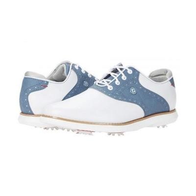 FootJoy フットジョイ レディース 女性用 シューズ 靴 スニーカー 運動靴 Traditions - White/Blue
