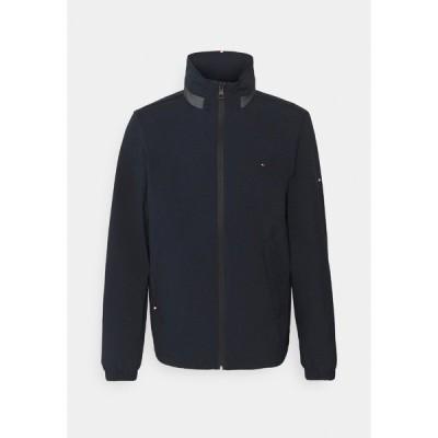 トミー ヒルフィガー ジャケット&ブルゾン メンズ アウター STAND COLLAR JACKET - Waterproof jacket - desert sky