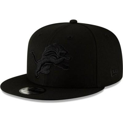 デトロイト・ライオンズ New Era Black On Black 9FIFTY Adjustable キャップ - Black