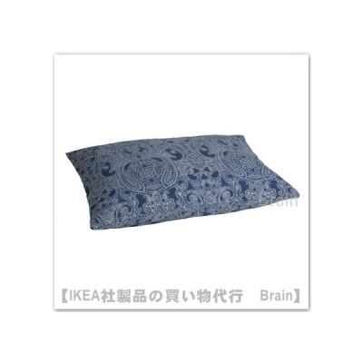 IKEA/イケア JATTEVALLMO/イェッテヴァッルモ 枕カバー50x60 cm ダークブルー/ホワイト