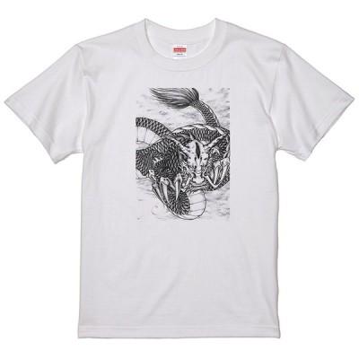 和柄 ドラゴン 龍 Tシャツ 和風浮世絵