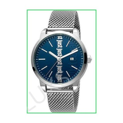 Just Cavalli Fashion Modern Gents 3 Hands Quartz Watch - Stainless Steel Bracelet and case and Blue dial - JC1G141M0065 並行輸入品