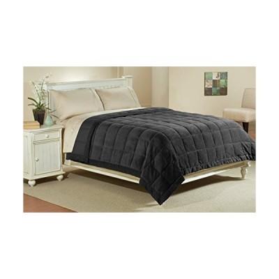 Luxlenマイクロファイバーブランケット柔らかいビロードからサテンクール。 Twin 68x90 ブラック blanket-mf-black-t