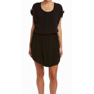 Splendid スプレンディッド ファッション ドレス Splendid Womens Dress Black Size XS Sheath Crinkle Chiffon Tunic