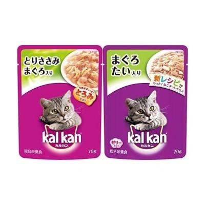 セット買いカルカン パウチ 成猫用 1歳から とりささみ まぐろ入り 70g×16袋 (まとめ買い) キャットフード & パウチ 成猫用 1