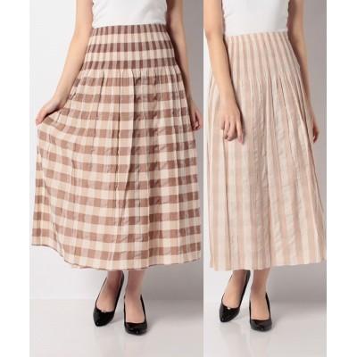(FACE SANS FARD/ファスサンファール)E24203 #Reversible Skirt[BEATRICE]/レディース ベージュ