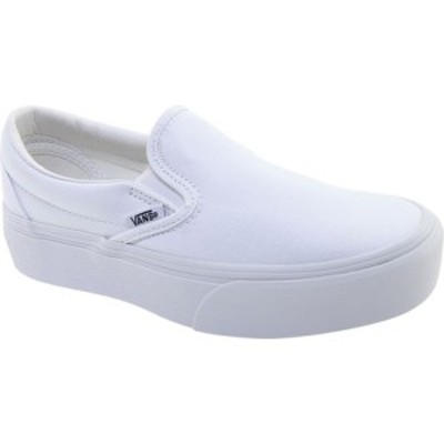 バンズ レディース スニーカー シューズ Classic Slip-On Platform Sneaker True White Textile