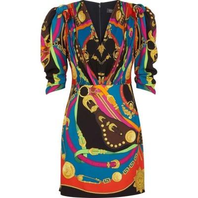 ヴェルサーチ Versace レディース パーティードレス ミニ丈 ワンピース・ドレス Printed Mini Dress Multi