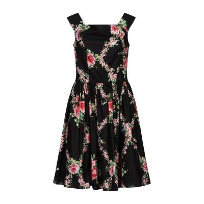 ブルマリン BLUMARINE ミニワンピース&ドレス ブラック 38 コットン 100% ミニワンピース&ドレス