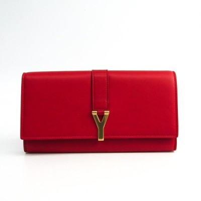 サン・ローラン 314995 レディース レザー 長財布(二つ折り) レッド
