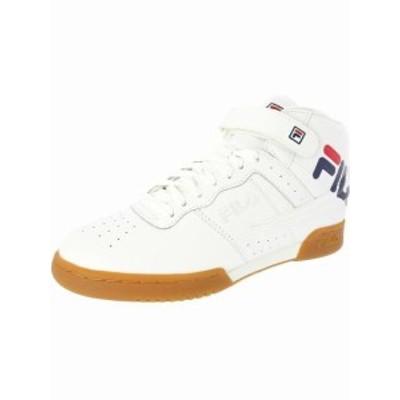 fila フィラ スポーツ用品 シューズ Fila Mens F-13 Logo Mid-Top Leather Fashion Sneaker