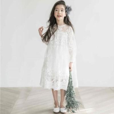 子供 ワンピース 女の子 可愛いスタイル スカート長袖 ワンピース入園 入学 フォーマル プリンセスドレス 韓国子供服 七五三 結婚式 発表