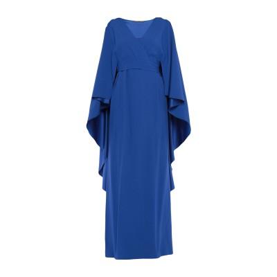 アルベルタ フェレッティ ALBERTA FERRETTI ロングワンピース&ドレス ブルー 38 アセテート 74% / レーヨン 26% ロング