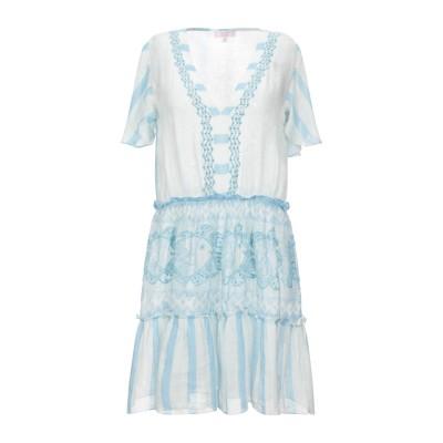 PIN UP STARS ミニワンピース&ドレス スカイブルー M リネン 100% ミニワンピース&ドレス