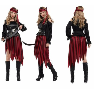 大人用 女性用 ハロウィン衣装 女海賊 ジャック船長パイレーツオブカリビアン ハロウィン 衣装 仮装 コスプレ衣装 レディース イベント ハロウィーン ガールズ