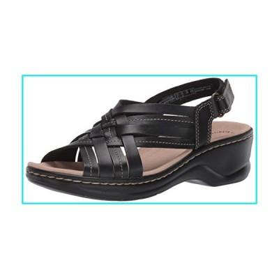 Clarks Women's Lexi Carmen Sandal, Black Leather, 75 M US【並行輸入品】