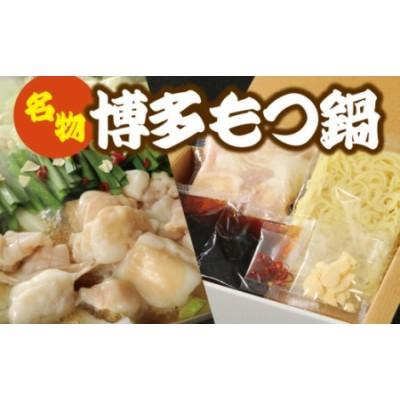 【B-006】博多牛もつ鍋 B / モツ鍋 ホルモン鍋 ちゃんぽん麺 国産 福岡県 特産
