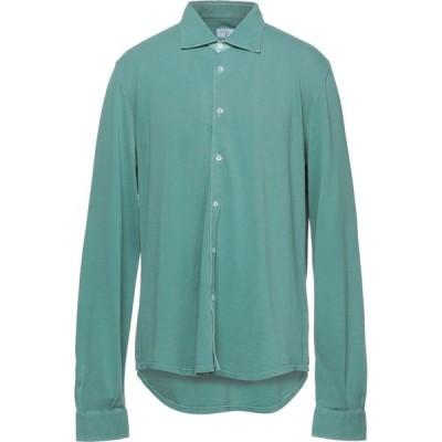 フェデーリ FEDELI メンズ シャツ トップス solid color shirt Green