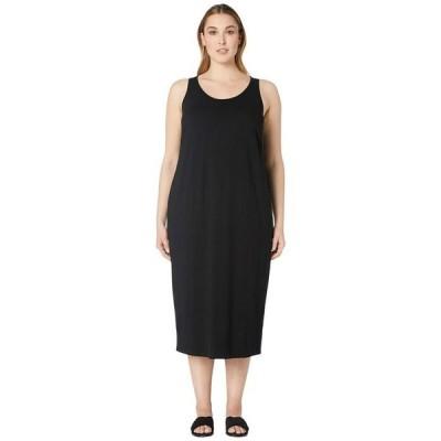 エイリーンフィッシャー レディース ワンピース トップス Plus Size Viscose Jersey Scoop Neck Dress