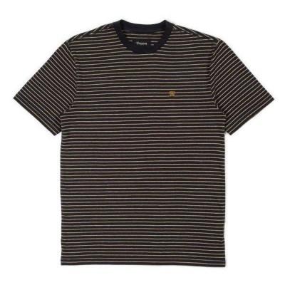 Brixton Hilt T-Shirt Black/Honey/Heather Grey M Tシャツ 送料無料