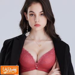 【EASY SHOP】Audrey-花羽-小胸最愛舒芙蕾造胸神器內衣-氣質玫瑰粉