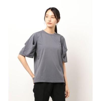 tシャツ Tシャツ 斜行天竺パフスリーブプルオーバー