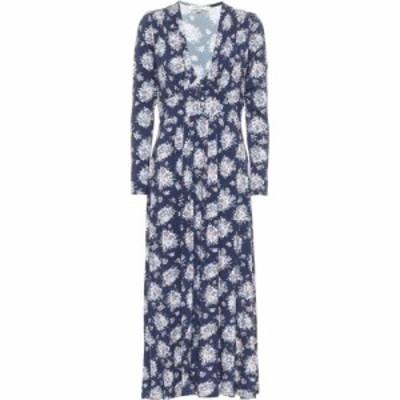 ラブシャックファンシー LoveShackFancy レディース ワンピース ミドル丈 ワンピース・ドレス Min Floral Midi Dress Deep Marine Blue
