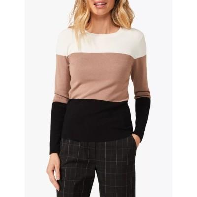 フェイズ・エイト ニット&セーター レディース アウター Phase Eight Meilani Knit Colour Block Top, Black/Camel