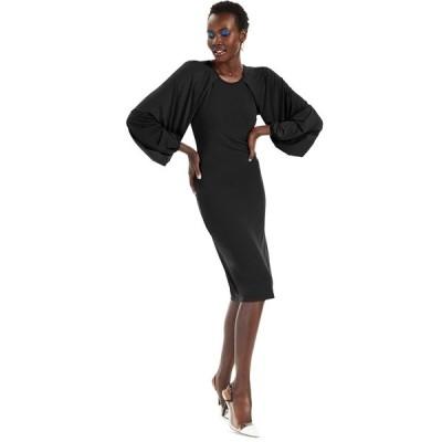 アイエヌシーインターナショナルコンセプト ワンピース トップス レディース INC Raglan-Sleeve Knit Dress, Created for Macy's Deep Black