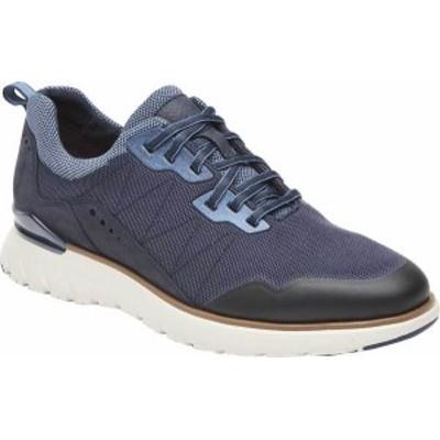 ロックポート メンズ スニーカー シューズ Men's Rockport Total Motion Sport Mudguard Sneaker New Dress Blues Leather/Mesh Trim