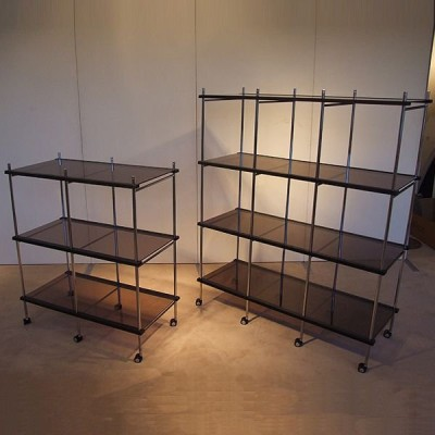 折りたたみ商品棚 OS−B102 二段一列 2段1列 ブラウン