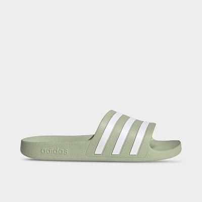 アディダス レディース サンダル adidas Originals Adilette Aqua Slide スリッパ Halo Green/White/Halo Green