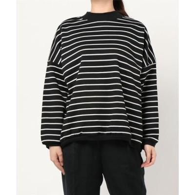 tシャツ Tシャツ ボーダーハイネックプルオーバー