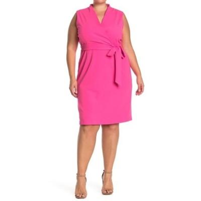 アレクシアアドマー レディース ワンピース トップス Savannah Wrap Sheath Dress (Plus Size) PINK