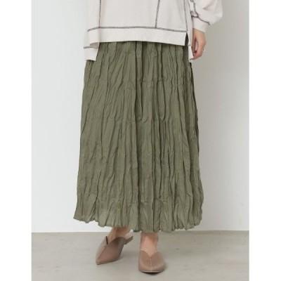 スカート クリンクルスカート