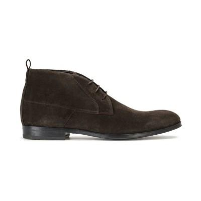 ヒューゴボス ブーツ&レインブーツ シューズ メンズ Men's Boheme Suede Chukka Boots Dark Brown