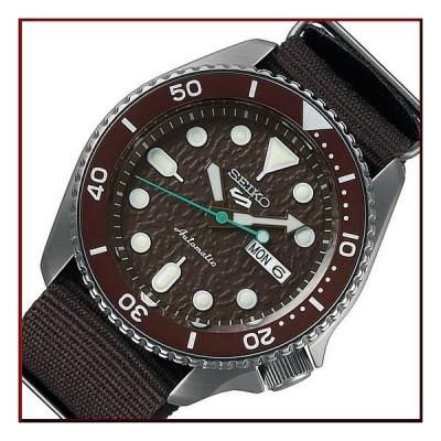 SEIKO SEIKO5Sports セイコー5スポーツ ファイブスポーツ 自動巻 メンズ腕時計 ブラウンナイロンべルト ブラウン文字盤 海外モデル SRPD85K1