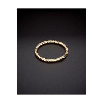 レディース アクセサリー  14K Italian Gold Ribbed Stack Ring