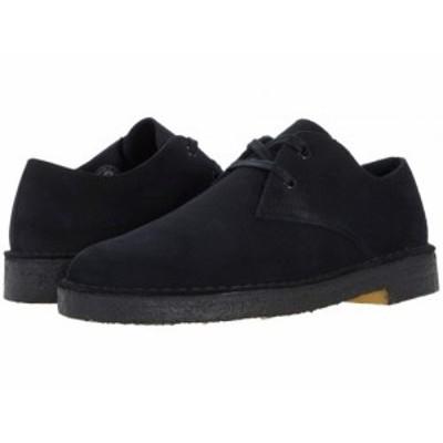 Clarks クラークス メンズ 男性用 シューズ 靴 オックスフォード 紳士靴 通勤靴 Desert Khan Black Suede【送料無料】