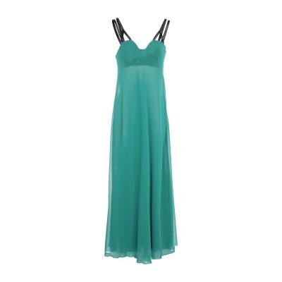 ジャンバ GIAMBA ロングワンピース&ドレス エメラルドグリーン 40 レーヨン 96% / ナイロン 4% / シルク ロングワンピース&ドレス