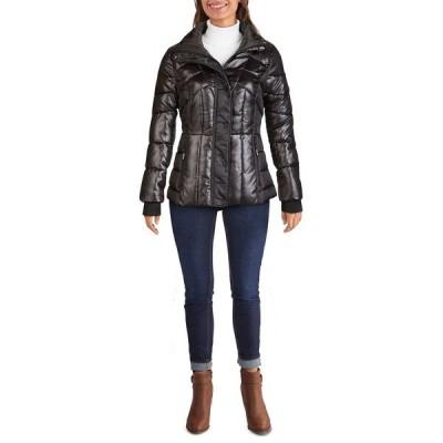ゲス コート アウター レディース Women's Quilted Puffer Coat Black